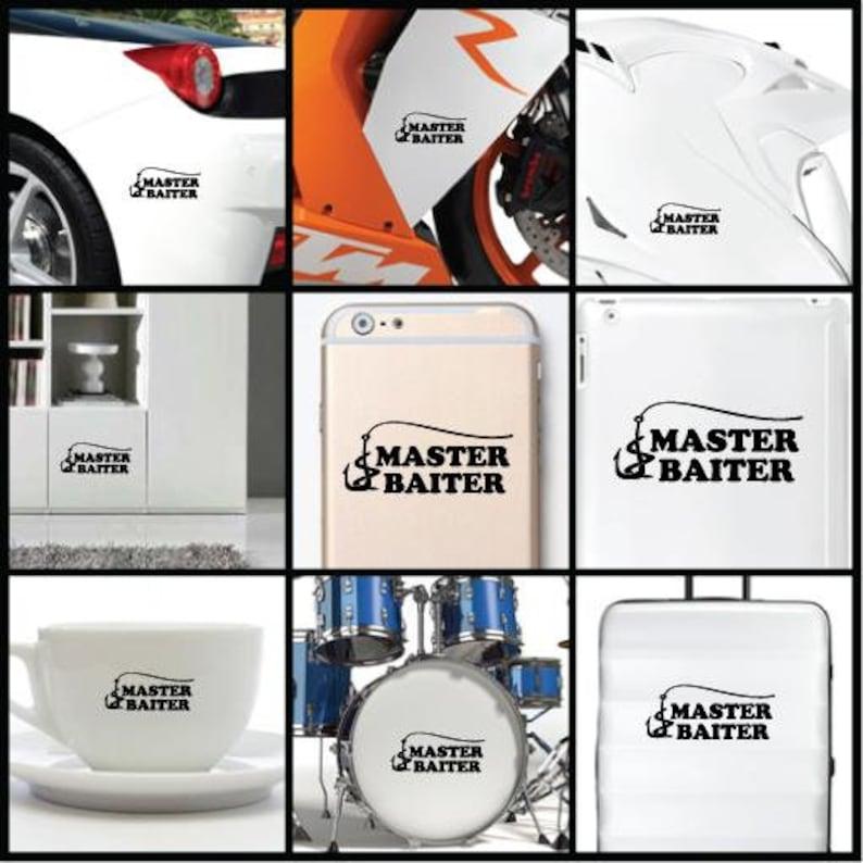 iPhone Car iPad Master Baiter Expert Skill Vinyl Decal Sticker for Wall Macbook Bike Helmet Laptop