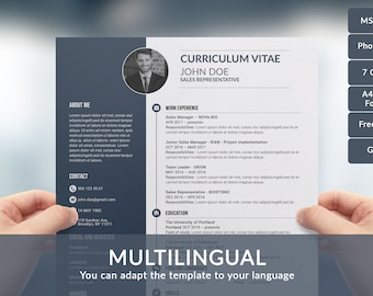 Resume Template, CV Template for 2 and 3 page, CV in Ms Word, Resume, CV, Cover Letter template, Curriculum Vita Template, Professional Cv