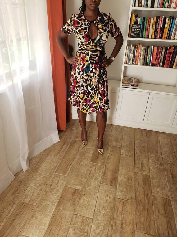 Diane Von Furstenberg Wrap Around Silk Dress/Size