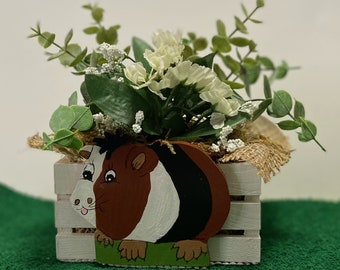 Cute Guinea Pig Planter by Nan - All Planters are hand painted and originals!
