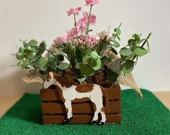 Cute Paint Horse Planter by Nan - All Planters are hand painted and originals!