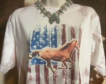 Land of the Free Bleached Graphic Tee l Unisex Jersey Short Sleeve Tee