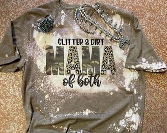 Glitter & Dirt Momma of Both Graphic tee l Unisex Jersey Short Sleeve Tee