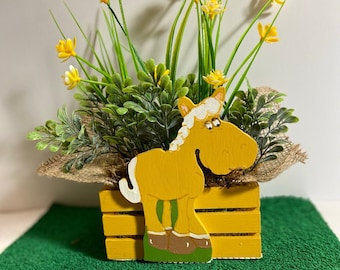 Palomino Horse Planter by Nan - All Planters are hand painted and originals!