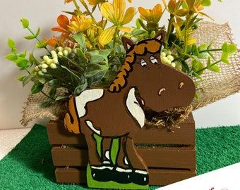 Cute Horse Planter by Nan - All Planters are hand painted and originals!