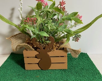 Adorable Elk Planter by Nan - All Planters are hand painted and originals!