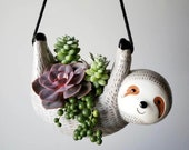 Sloth Hanging Planter Pot for Succulents Plants Mothers Day Mother 39 s Day Gifts Unique Gift Ideas