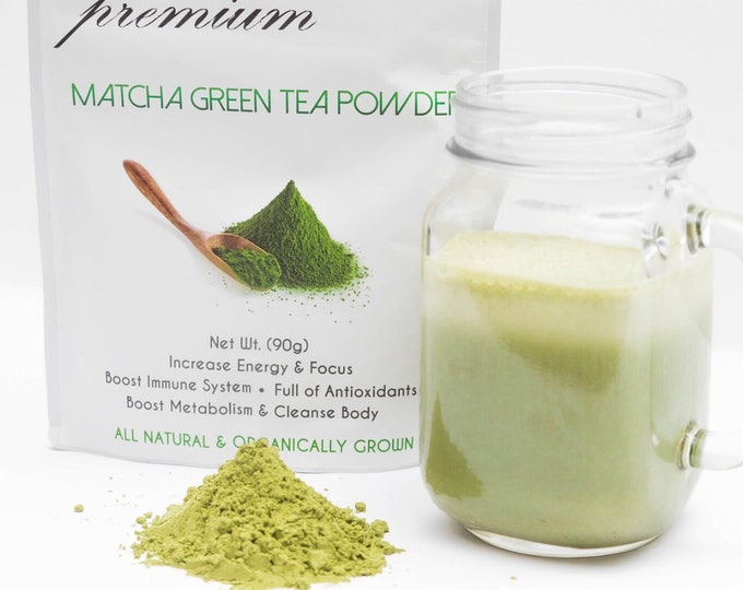 Alphatox Organic Matcha Green Tea Powder Japanese (30 Day Supply ) (#1 in Quality) Rated #1 Online For Effectiveness, Taste, and Shipping