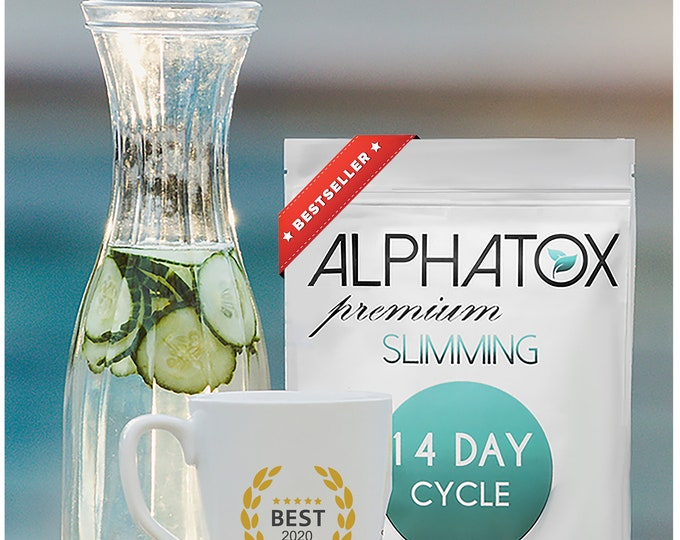 Alphatox Premium Slimming Tea 14 Day Cycle (Rated #1 Tea For Weight Loss For 5 Years) (Natural & Organically Grown) Fast Fat Burn WeightLoss