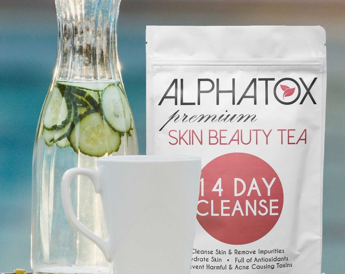 Alphatox Best Skin Care Beauty Tea 14 Day Cleanse Stretch Marks , Cellulite , Tone , Glow ,  13 Natural Super Fruits! Free Shipping,#1 5YRS!