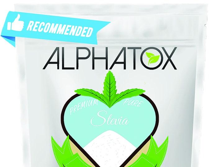 Premium Organic Natural 98.9% Pure Stevia Powder 0 Calorie Sweetener Great Detox / Slim / Weight Loss & Tea No Sugar Substitute Alternative
