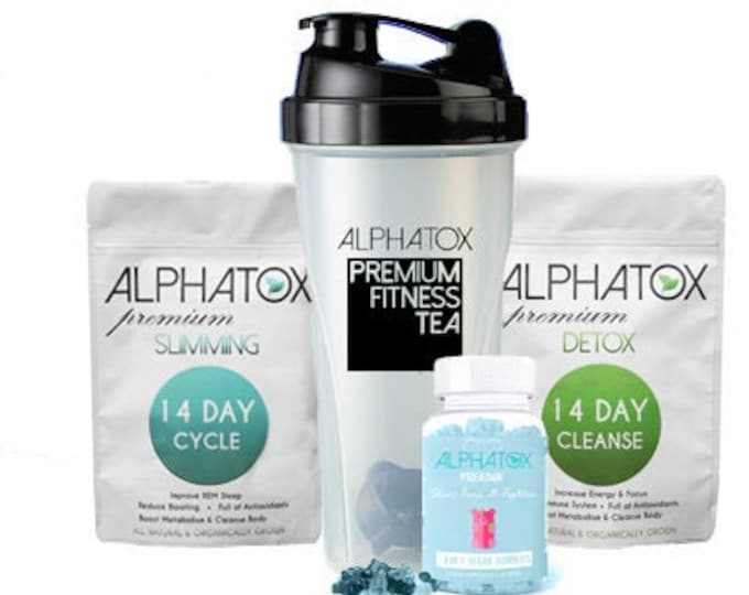 ALPHATOX™ Rated Best Weight Loss Combo 14 Day Premium Weight Loss Slimming Tea Bundle With Gummies To Lose Weight Tummy Slimming Gummy Bears