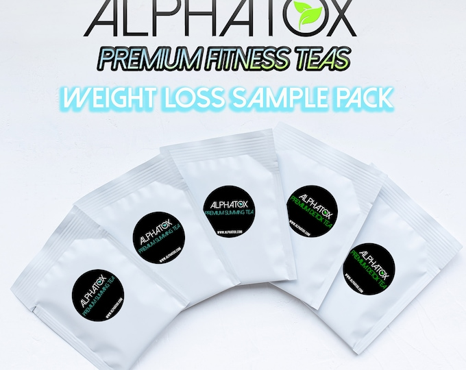 Alphatox 5 Day Weight Loss Sample Pack With 3 Best Rated Slimming Tea & 2 Best Rated Detox Tea Packets!  Lose Weight With Skinny Tea Blends