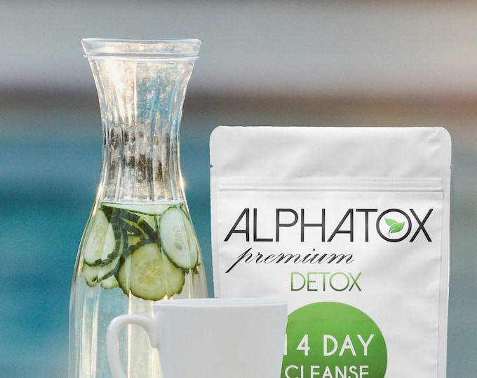 Alphatox Detox Tea 14 Day Premium Cleanse (#1 Best Detox Tea Weight Loss, Fat Burn 5 YR's) (Natural & Organic) Ships Same Day 1 - 2 Delivery