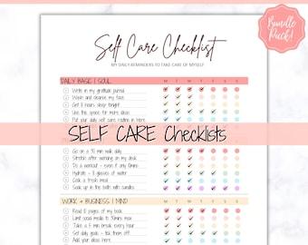 Self Care Bath Routine Shower Printable Self Love Self Love Printable Self Care Printable Digital Printable Shower Routine A4 PDF