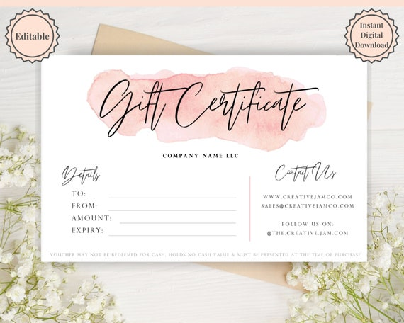 ready to ship gift Gift card instant download voucher gift Anniversary gift certificate Last minute gift birthday gift for her