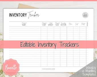 Inventory Tracker! Small Business Inventory Management Form, Product Stock Sales, Etsy Seller, Handmade, Poshmark Reseller Business Template