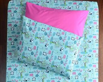 Single Size %100 Cotton Bed Linen Set (Fitted Sheet, Duvet Cover, Pillow Case)