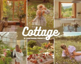 10 Cottage Mobile and Desktop Lightroom Presets | Cottagecore Presets | Country Instagram Presets | Farm Preset |