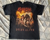 Kreator medium shirt - dying alive 2013 on anvil - ( overkill exodus anthrax nuclear assault large vintage )