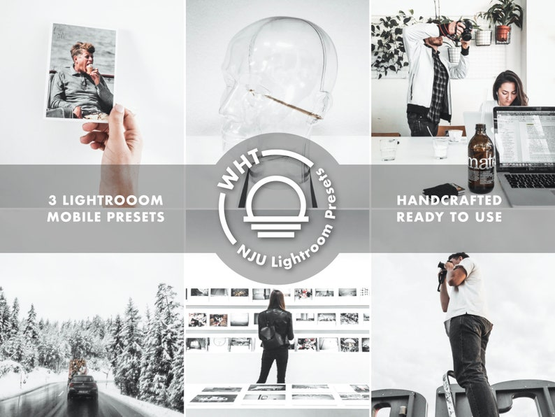 WHT Lightroom Preset Pack 3 Filters included Minimal White image 0