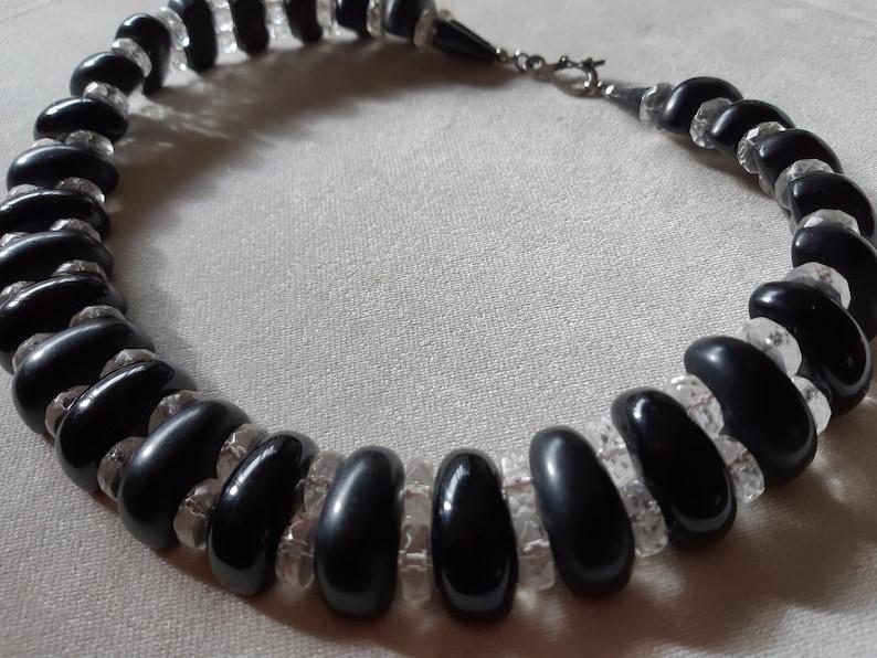Bijoux Cascio Italian Vintage Fashion Collar  Necklace Lucite Collectible  1980s Fashion
