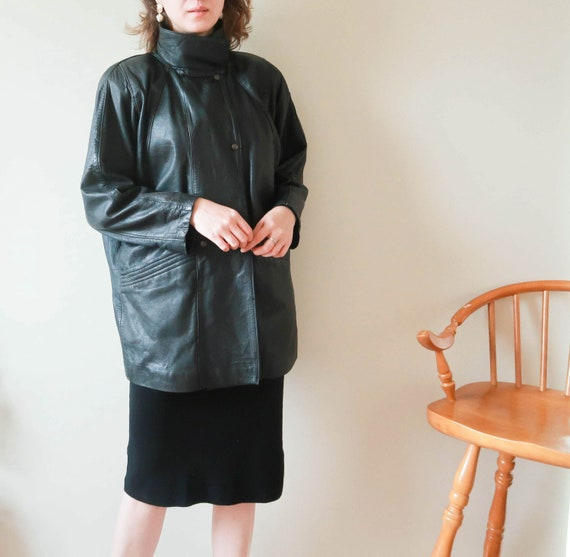 Vintage YSL Jacket ; Yves Saint Laurent Leather Ja