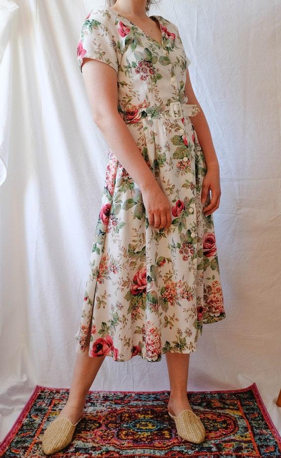 Cottagecore Dress; Vintage Midi Dress - image 3