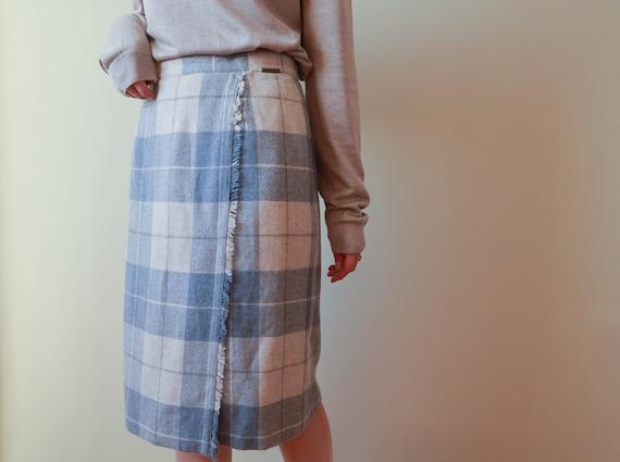 Tartan Wool Pastel Skirt 40 EU / 12 UK / 8 US Size