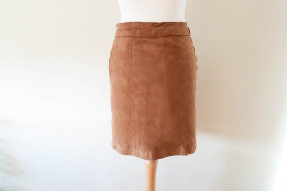 60s Suede Mini Skirt  6-8 UK / 34-36 EU ; Vintage