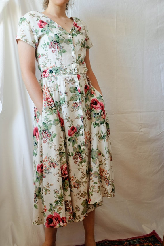 Cottagecore Dress; Vintage Midi Dress - image 2