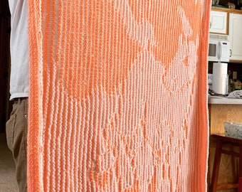 Pattern, Illusion Unicorn Knitted Blanket