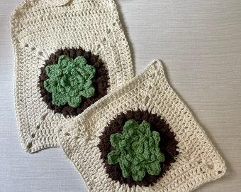 3D Crochet Hand Towel and Pot Holder