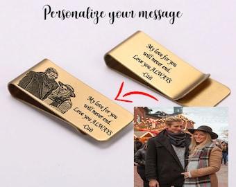 Personalized Money Clip - Custom Money Clip - Engraved Money Clip - Money Clip For Men - Photo Money Clip