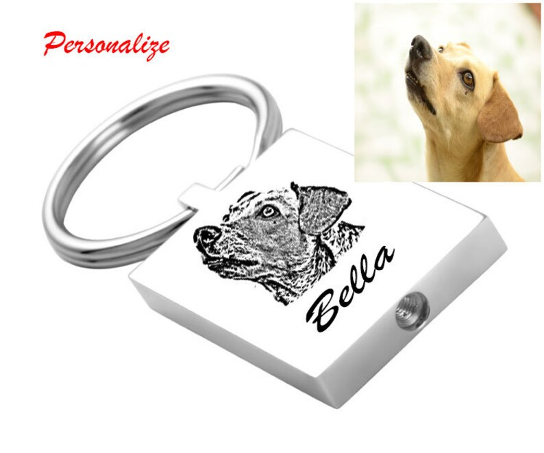 KE1 Dog loss-Cat loos-Pet loss GS Pet\\Human Keepsake Key chain Pet Urn Key Chain-Memorial Jewelry-Remembrance Jewelry-Sympathy Gift