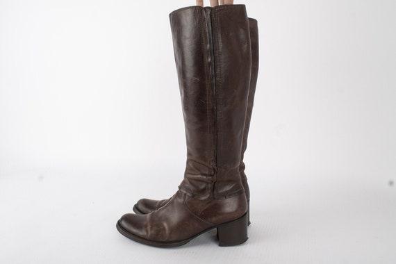 US7-75 Vintage Womens Boots of Fine Italian Leathe