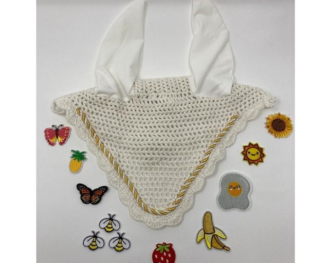 Choose Your Patch White Bonnet! Horse Size