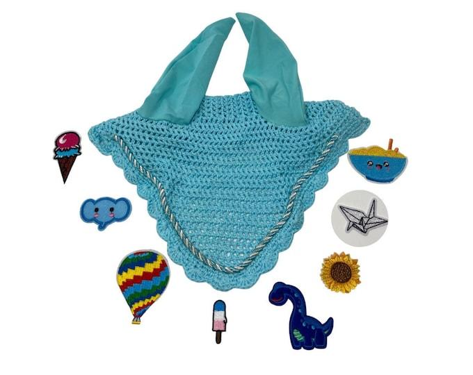 Choose Your Patch Light Blue Bonnet! Horse Size