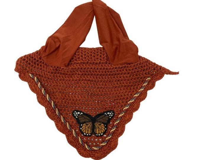 NEW Rust Butterfly Bonnet! Horse-Sized