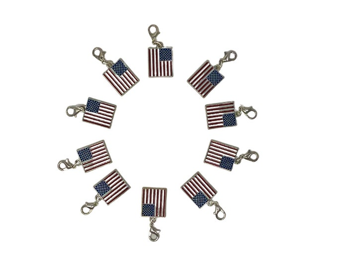 USA Flag Bridle Charms!