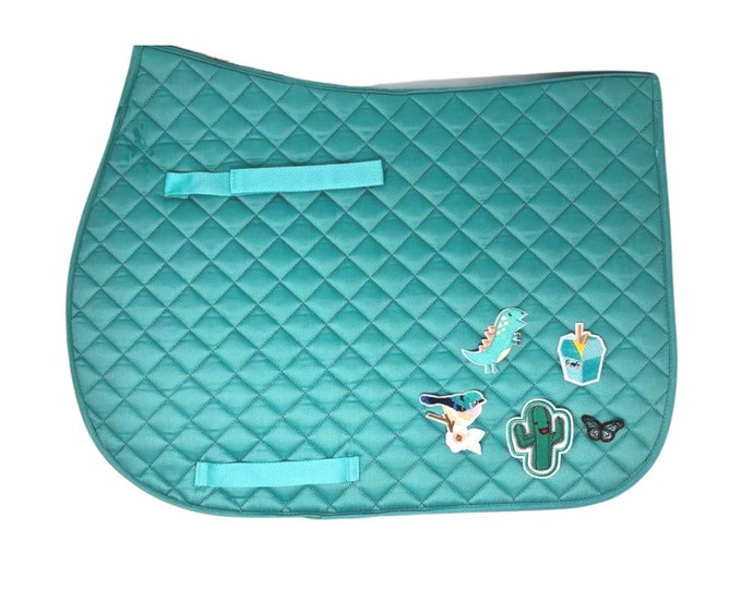 Choose Any of These Patches on the Island Blue All-Purpose Saddle Pad!