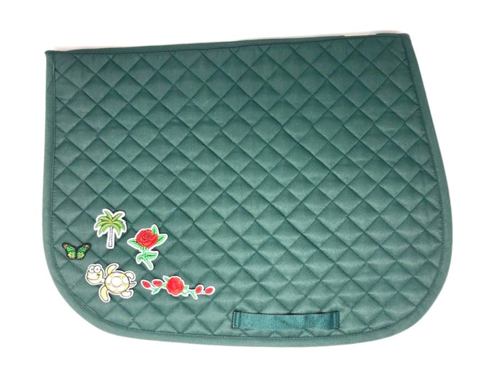 Choose Any of These Patches on the Hunter Green All-Purpose Saddle Pad!