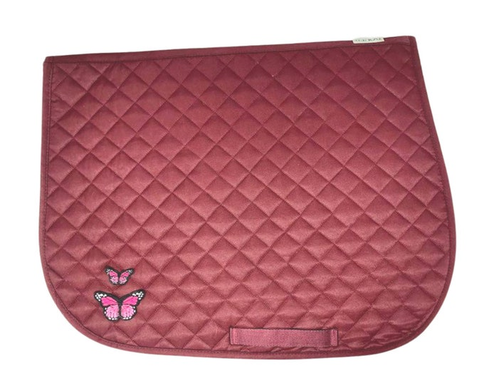Choose Any of These Patches on the Burgundy All-Purpose Saddle Pad!