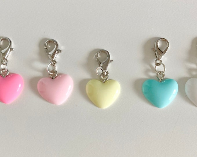 NEW Pastel Heart Charms!