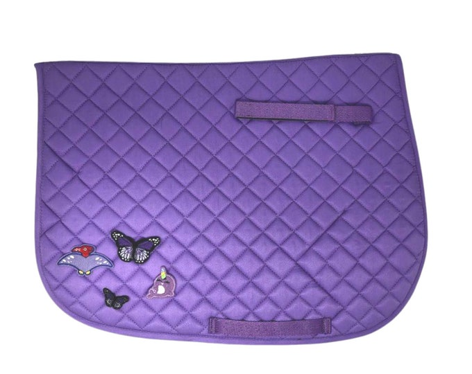 Choose Any of These Patches on the  Violet All-Purpose Saddle Pad!