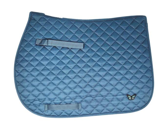 Customized Blue-Bird All-Purpose Saddle Pad!