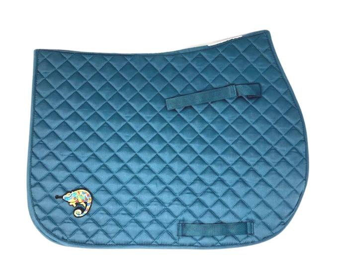 Customized Glacier Blue All-Purpose Saddle Pad!