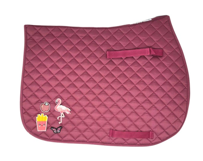 Choose Any of These Patches on the Hibiscus All-Purpose Saddle Pad!