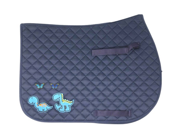 Choose Any of These Patches on the Navy All-Purpose Saddle Pad!