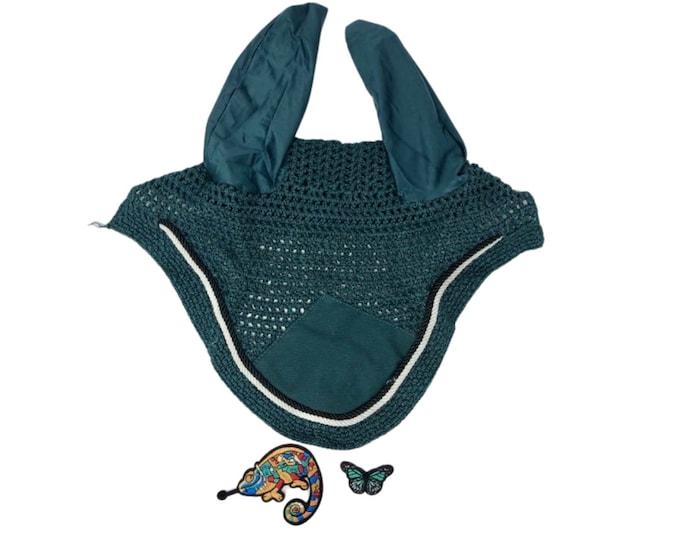 Choose Your Patch Dark Teal Bonnet! Horse Size